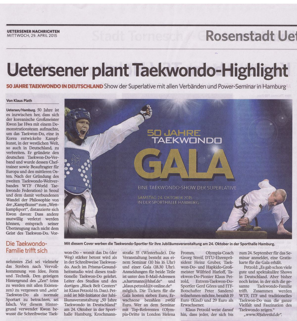 Uetersener plant Taekwondo-Highlight